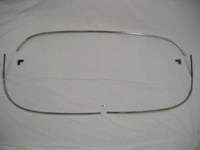 1955-57 Chevy 2-Door Hardtop Restored Back Glass Stainless Set - 6 Pieces