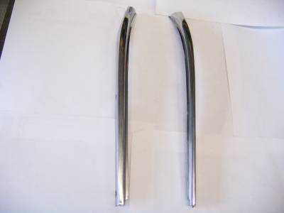 1955-57 Chevy Bel Air 2-Door Hardtop & Nomad Restored Upper Windshield Pillars Pair