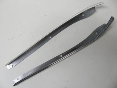 1956-57 Chevy Bel Air 4-Door Hardtop Restored Upper Windshield Pillars Pair