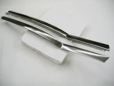 1955-57 Chevy Bel Air 2-Door Hardtop Restored Quarter Window Beltline Stainless Pair