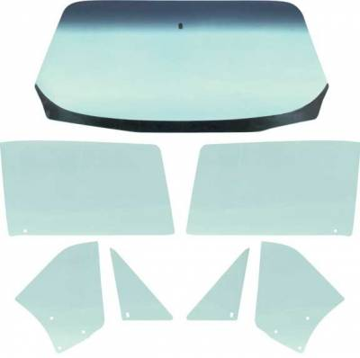 1967 Camaro & Firebird Convertible Tinted Glass Kit 7 Pieces