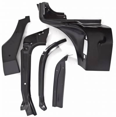 1957 Chevy 2&4-Door Hardtop & Nomad Right Windshield Pillar/Upper Hinge Area Repair Kit