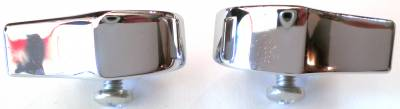 1957 Chevy 210 & Bel Air 4-Door Sedan & Station Wagon Center Post Chrome Divider Trim Pair