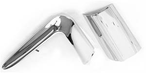 1957 Chevy 150 & 210 Style One-Piece Stainless Steel Left Fin/Crown Molding With Gas Door