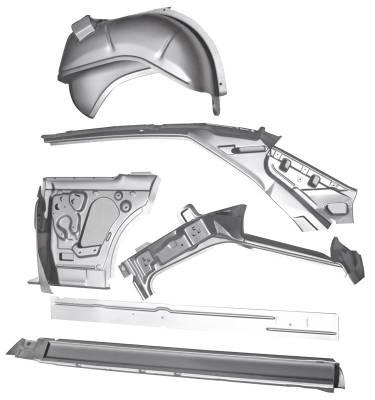 1966-67 Chevy II 2-Door Hardtop Left Body Side Assembly