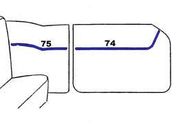 1956 Chevy 210 2-Door Hardtop Interior Side Panel Trim 4-Piece Set