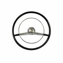 "1957 Chevy Bel Air Black 18"" Steering Wheel Kit Complete"
