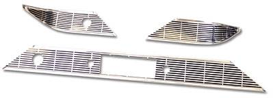 1956 Chevy Bel Air Stock Dash Trim Set With Speaker Grille Script