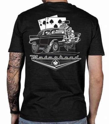 Black 1957 Chevy 100% Cotton T-Shirt X-Large