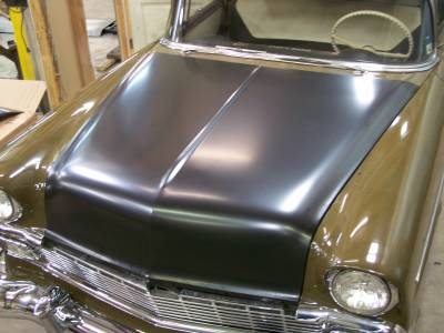 1956 Chevy Steel Custom Smoothie Hood Complete