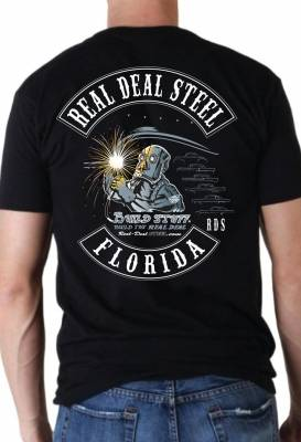 Black Real Deal Steel 100% Cotton T-Shirt Medium