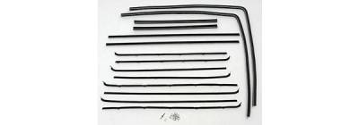 1955-57 Chevy 2-Door Station Wagon Side Glass Fuzzy Channel Kit