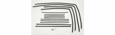 1955-57 Chevy 4-Door Station Wagon Side Glass Fuzzy Channel Kit