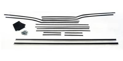 1956-57 Chevy 4-Door Hardtop Window Felt Whisker Channel Kit