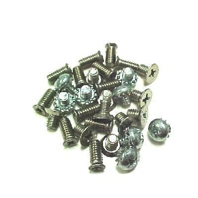 1955-57 Chevy 2-Door Hardtop/Convertible/Nomad Side Glass Chrome Frame Screw Set