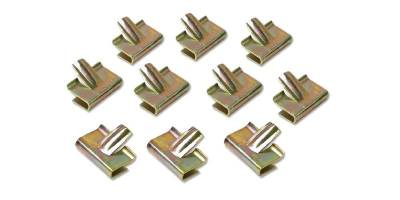 1955-57 Chevy Convertible Stainless Steel Boot Snap Trim Clip Set