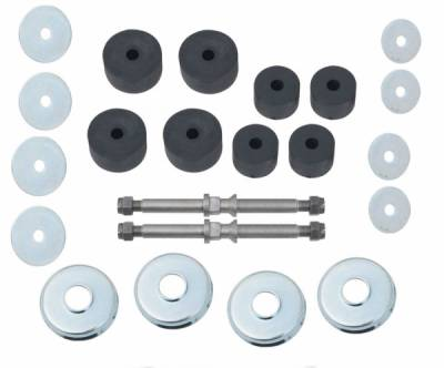 1955-57 Chevy Front Motor Mount Studs, Washers & Rubber Set