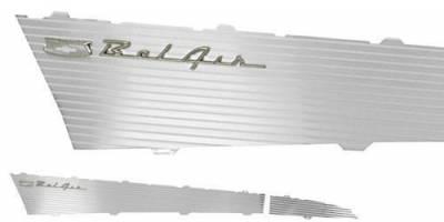 1957 Chevy Bel Air 4-Door Hardtop Aluminum Quarter Panel Inserts Pair