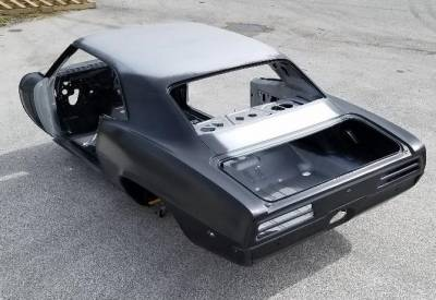 1967-69 Firebird Coupe Body With Top Skin, Drip Rails & Quarter Panels