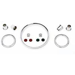 1957 Chevy Instrument Cluster Gauge Chrome Bezel Set