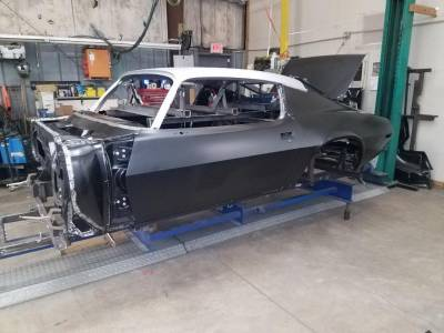 1970-73 Camaro Coupe Body With Standard Transmission & Heater Delete Firewall