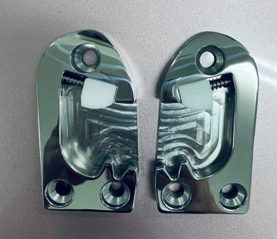 1955-62 Polished Billet Stainless Steel Door Strikers Pair