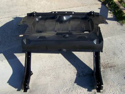 1968 Camaro & Firebird Coupe Assembled Trunk Floor & Frame Rail Assembly Narrowed For DSE Style Wider Wheel Tubs