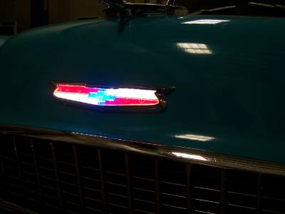 1955 Chevy Lighted LED Hood Emblem Assembly