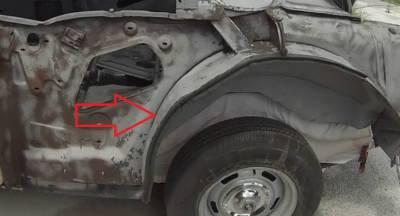 1955-57 Chevy 2-Door Hardtop Left Forward Outer Wheelhouse Panel