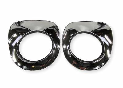 1955-57 Chevy Truck Chrome Headlight Bezels Pair