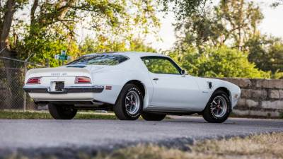 1970-73 Firebird Coupe Body Shell With Standard Transmission & Factory Air Conditioning Firewall