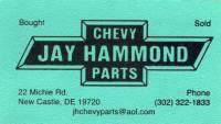 Jay Hammond Chevy Parts