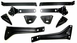 1955-57 Chevy - Bumper - GM - 1957 Chevy Complete 10-Piece Front Bumper Bracket Set