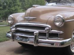 1949-50 Chevy Chrome Center Grille Molding - Image 2