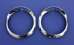 1955-57 Chevy - Exterior Chrome - 1955 Chevy Chrome Headlight Bezels Pair