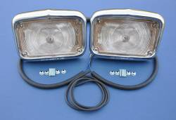 1955-57 Chevy - Exterior Chrome - GM - 1956 Chevy Parking Light Housings Pair