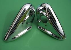 1955-57 Chevy - Exterior Chrome - 1956 Chevy Chrome Rear Bumper Guards