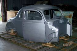 Bodies - 1940 Ford Coupe Body With Recessed Firewall, Doors & Deck Lid