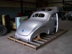 Bodies - 1940 Ford Coupe Body With Stock Firewall, Doors & Deck Lid