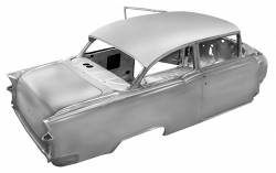 1955-57 Chevy - 2-Door Sedan - 1955 Chevy 2-Door Sedan Body Skeleton With Dash, Quarter Panels, Doors & Deck Lid