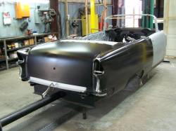 1955 Chevy Convertible Body Skeleton With Dash, Quarter Panels, Doors, Deck Lid & Convertible Top Frame - Image 1
