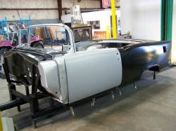 1955 Chevy Convertible Body Skeleton With Dash, Quarter Panels, Doors, Deck Lid & Convertible Top Frame - Image 2