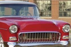 1955 Chevy Steel Custom Smoothie Hood Complete - Image 5