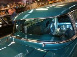1955-57 Chevy 2-Door Hardtop & Nomad Outside Sunvisor Complete - Image 2