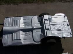 1955-57 Chevy - Floor - GM - 1955-57 Chevy 2-Door Hardtop Fully Welded Floor With Braces And Spare Tire Delete Trunk Floor