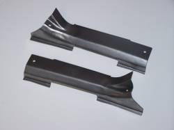 GM - 1955-57 Chevy Station Wagon Tailgate Hinge Covers On Body Pair - Image 2
