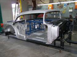 1956 Chevy 2-Door Hardtop Body Skeleton With Dash - Image 1