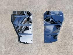 1955-57 Chevy - Radiator Support - GM - 1956 Chrome Radiator Support Baffles Pair
