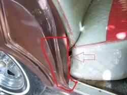 GM - 1956-57 Chevy 4-Door Hardtop Lower Rear Door Jamb Dogleg Repair Panels Pair - Image 2