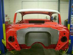 "1957 Chevy 4"" Recessed Smoothie Steel Firewall Upgrade - Image 1"